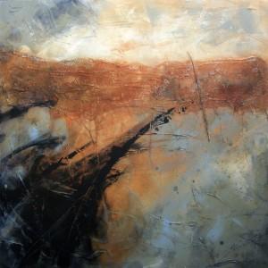 Strandline Acrylic/mixed media on canvas, 100 x 100 cm