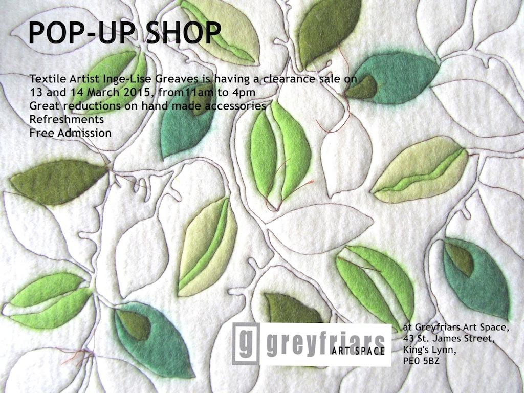Inge-Lise pop up sale poster