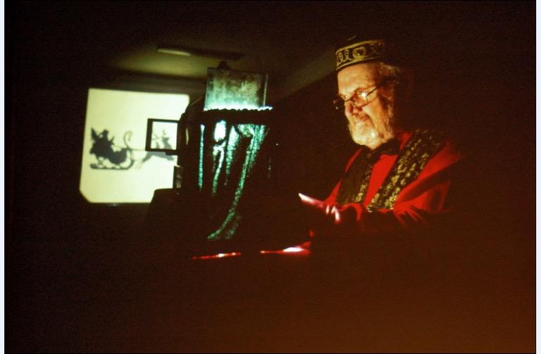 richard in magic lantern outfit
